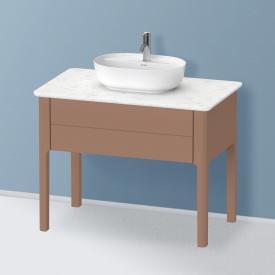 Duravit Luv Waschtischunterschrank für Konsole mit 1 Auszug Front mandel seidenmatt/Korpus mandel seidenmatt, ohne Einrichtungssystem