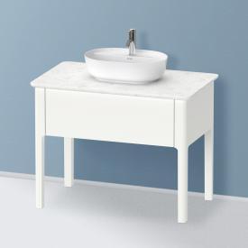 Duravit Luv Waschtischunterschrank für Konsole mit 1 Auszug Front weiß seidenmatt/Korpus weiß seidenmatt, ohne Einrichtungssystem