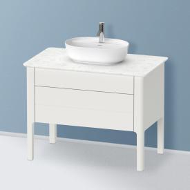Duravit Luv Waschtischunterschrank für Konsole mit 2 Auszügen Front nordic weiß seidenmatt / Korpus nordic weiß seidenmatt, mit Einrichtungssystem Ahorn