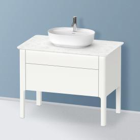 Duravit Luv Waschtischunterschrank für Konsole mit 2 Auszügen Front weiß seidenmatt/Korpus weiß seidenmatt, ohne Einrichtungssystem