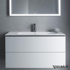 Duravit ME by Starck Möbelwaschtisch weiß, mit WonderGliss, mit 1 Hahnloch