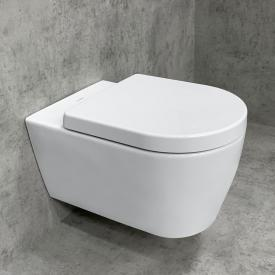 Duravit ME by Starck & Tellkamp Premium 4000 Wand-WC-SET: WC ohne Spülrand weiß, mit HygieneGlaze