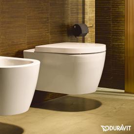 Duravit ME by Starck Wand-Tiefspül-WC ohne Spülrand, weiß matt, mit WonderGliss