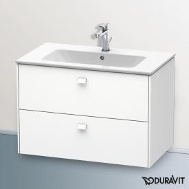 Duravit ME by Starck Waschtisch mit Brioso Waschtischunterschrank mit 2 Auszügen weiß, mit WonderGliss, mit 1 Hahnloch