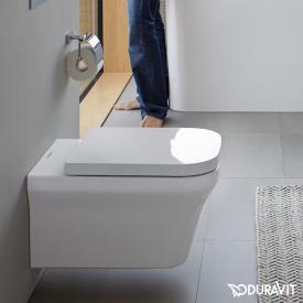 Duravit P3 Comforts Wand-Tiefspül-WC, rimless weiß, mit WonderGliss