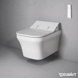 Duravit P3 Comforts Wand-Tiefspül-WC Rimless mit NEUEM SensoWash® Slim WC-Sitz, Set weiß mit WonderGliss