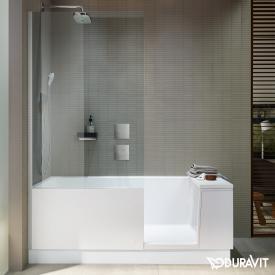 Duravit Shower + Bath Rechteck-BadeBadewannne mit Duschzone, Eckeinbau Klarglas