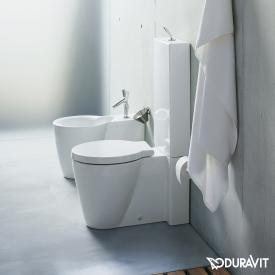 Duravit Starck 1 Stand-Tiefspül-WC für Kombination weiß, mit WonderGliss