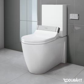 Duravit Starck 2 Stand-Tiefspül-WC Kombination mit SensoWash® Starck e WC-Sitz, Set weiß mit WonderGliss, Spülkasten mit Anschluss rechts oder links