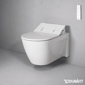 Duravit Starck 2 Wand-Tiefspül-WC mit NEUEM SensoWash® Slim WC-Sitz, Set weiß