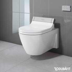 Duravit Starck 2 Wand-Tiefspül-WC mit SensoWash® Starck e WC-Sitz, Set weiß