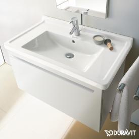 Duravit Starck 3 Möbelwaschtisch weiß, mit WonderGliss, mit 1 Hahnloch, mit Überlauf