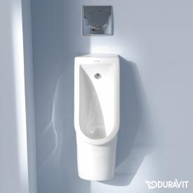 Duravit Starck 3 Urinal, rimless weiß mit WonderGliss, Zulauf hinten