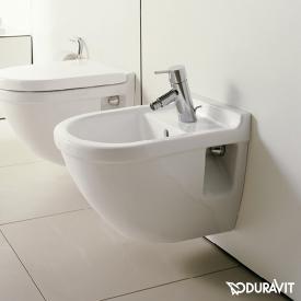 Duravit Starck 3 Wand-Bidet Compact weiß, mit WonderGliss