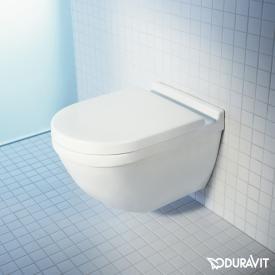 Duravit Starck 3 Wand-Tiefspül-WC ohne Spülrand, weiß, mit WonderGliss