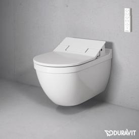 Duravit Starck 3 Wand-Tiefspül-WC mit NEUEM SensoWash® Slim WC-Sitz, Set weiß, mit WonderGliss
