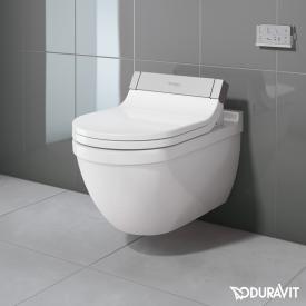 Duravit Starck 3 Wand-Tiefspül-WC mit SensoWash® Starck e WC-Sitz, Set weiß