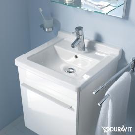 Duravit Starck 3 Waschtisch weiß, mit WonderGliss, mit 1 Hahnloch, ungeschliffen