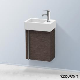 Duravit Vero Air Handwaschbeckenunterschrank mit 1 Tür Front eiche dunkel gebürstet / Korpus eiche dunkel gebürstet