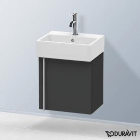 Duravit Vero Air Handwaschbeckenunterschrank mit 1 Tür Front graphit matt / Korpus graphit matt