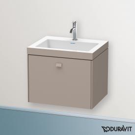 Duravit Vero Air Waschtisch mit Brioso Waschtischunterschrank mit 1 Auszug Front basalt matt/Korpus basalt matt, Griff basalt matt