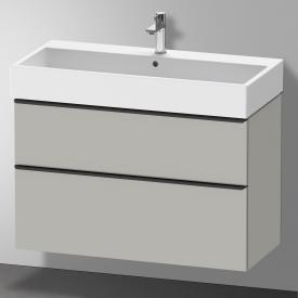Duravit Vero Air Waschtisch mit D-Neo Waschtischunterschrank mit 2 Auszügen Front betongrau matt / Korpus betongrau matt, WT weiß, mit 1 Hahnloch, mit Überlauf