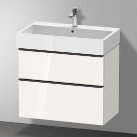 Duravit Vero Air Waschtisch mit D-Neo Waschtischunterschrank mit 2 Auszügen Front weiß hochglanz / Korpus weiß hochglanz, WT weiß, mit 1 Hahnloch, mit Überlauf