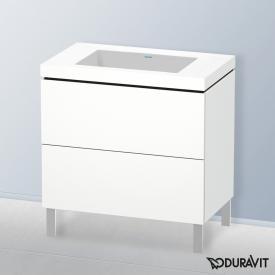 Duravit Vero Air Waschtisch mit L-Cube Waschtischunterschrank mit 2 Auszügen weiß matt, ohne Einrichtungssystem, ohne Hahnloch