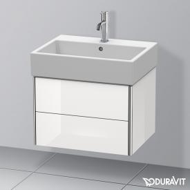 Duravit Vero Air Waschtisch mit XSquare Waschtischunterschrank mit 2 Auszügen weiß, mit 1 Hahnloch, mit Überlauf