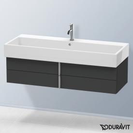 Duravit Vero Air Waschtischunterschrank normal mit 2 Auszügen Front graphit matt / Korpus graphit matt, mit Einrichtungssystem Ahorn