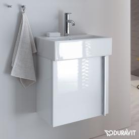 Duravit Vero Air Waschtischunterschrank mit 1 Tür Front weiß hochglanz / Korpus weiß hochglanz