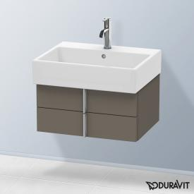 Duravit Vero Air Waschtischunterschrank normal mit 2 Auszügen Front flannel grey seidenmatt / Korpus flannel grey seidenmatt, mit Einrichtungssystem Ahorn