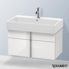 Duravit Vero Air Waschtischunterschrank hoch mit 2 Auszügen Front weiß hochglanz / Korpus weiß hochglanz, ohne Einrichtungssystem