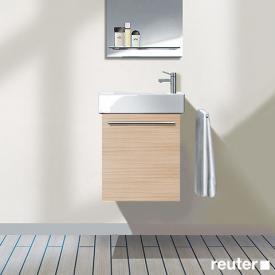 Duravit X-Large Handwaschbeckenunterschrank mit 1 Tür Front eiche gebürstet / Korpus eiche gebürstet