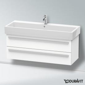 Duravit X-Large Waschtischunterschrank mit 2 Auszügen Front weiß matt / Korpus weiß matt
