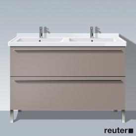 Duravit X-Large Waschtischunterschrank für Doppelwaschtisch mit 2 Auszügen Front basalt matt / Korpus basalt matt