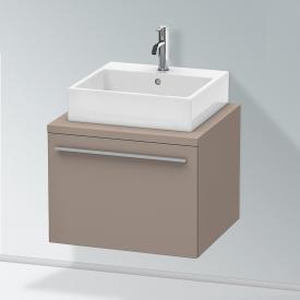 Duravit X-Large Waschtischunterschrank für Konsole mit 1 Auszug Front basalt matt / Korpus basalt matt