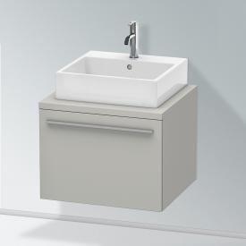 Duravit X-Large Waschtischunterschrank für Konsole mit 1 Auszug Front betongrau matt / Korpus betongrau matt