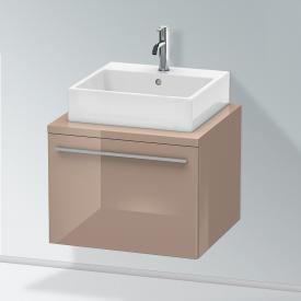 Duravit X-Large Waschtischunterschrank für Konsole mit 1 Auszug Front cappuccino hochglanz / Korpus cappuccino hochglanz