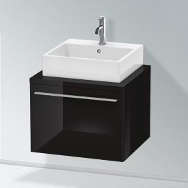Duravit X-Large Waschtischunterschrank für Konsole mit 1 Auszug Front schwarz hochglanz / Korpus schwarz hochglanz