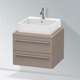 Duravit X-Large Waschtischunterschrank für Konsole mit 2 Auszügen Front basalt matt / Korpus basalt matt