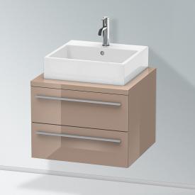 Duravit X-Large Waschtischunterschrank für Konsole mit 2 Auszügen Front cappuccino hochglanz / Korpus cappuccino hochglanz