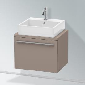 Duravit X-Large Waschtischunterschrank für Konsole Compact mit 1 Auszug Front basalt matt / Korpus basalt matt