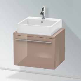 Duravit X-Large Waschtischunterschrank für Konsole Compact mit 1 Auszug Front cappuccino hochglanz / Korpus cappuccino hochglanz
