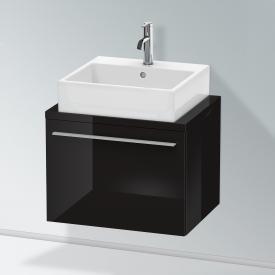 Duravit X-Large Waschtischunterschrank für Konsole Compact mit 1 Auszug Front schwarz hochglanz / Korpus schwarz hochglanz