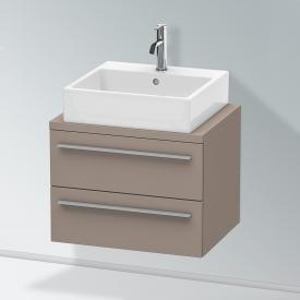 Duravit X-Large Waschtischunterschrank für Konsole Compact mit 2 Auszügen Front basalt matt / Korpus basalt matt