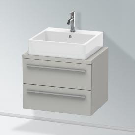 Duravit X-Large Waschtischunterschrank für Konsole Compact mit 2 Auszügen Front betongrau matt / Korpus betongrau matt