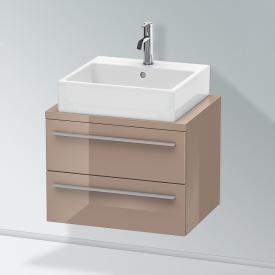 Duravit X-Large Waschtischunterschrank für Konsole Compact mit 2 Auszügen Front cappuccino hochglanz / Korpus cappuccino hochglanz