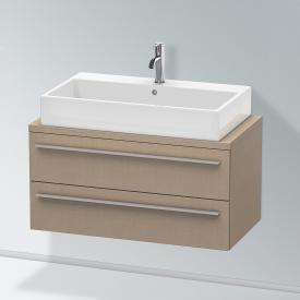 Duravit X-Large Waschtischunterschrank für Konsole Compact mit 2 Auszügen Front leinen / Korpus leinen