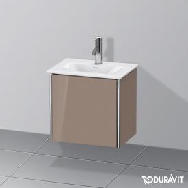 Duravit XSquare Handwaschbeckenunterschrank mit 1 Tür Front cappuccino hochglanz / Korpus cappuccino hochglanz